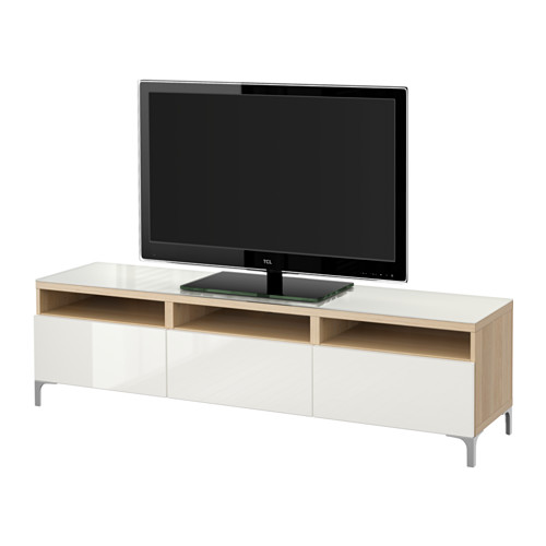 【IKEA/イケア/通販】 BESTÅ テレビ台 引き出し付き, ホワイトステインオーク調, セルスヴィーケン ハイグロス/ホワイト(a)(S49197340)