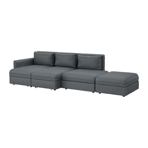 【IKEA/イケア/通販】 VALLENTUNA 4人掛けソファ ベッド付き, ヒッラレド ダークグレー(a)(S49149844)