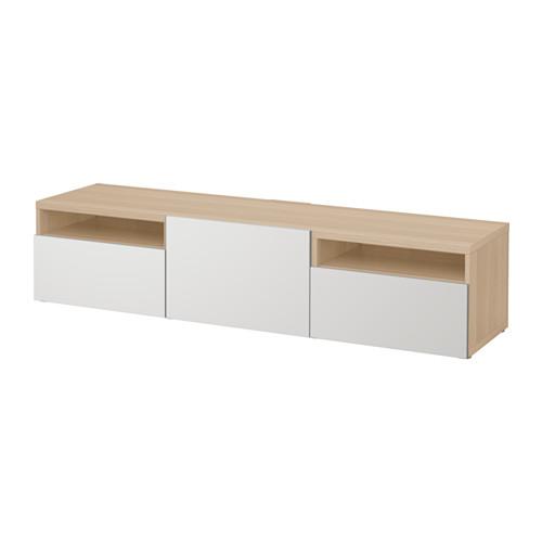 【IKEA/イケア/通販】 BESTÅ テレビ台, ホワイトステインオーク調, ラップヴィーケン ライトグレー(a)(S49198368)