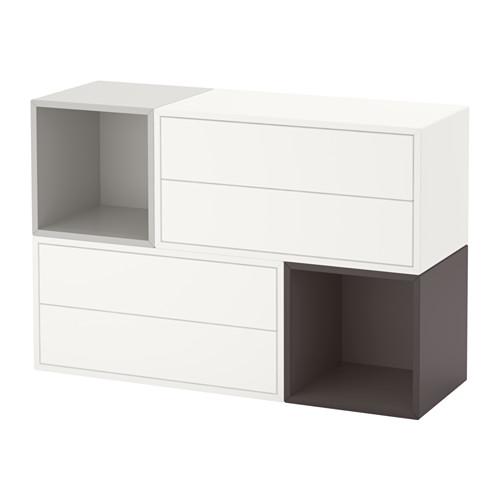 格安新品  【IKEA/イケア/通販 EKET】 EKET 壁取り付け式キャビネットコンビネーション, ホワイト/ライトグレー, ダークグレー(a)(S59191045), トヨシナマチ:d8e6b6cc --- construart30.dominiotemporario.com