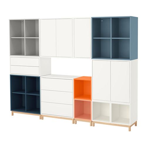 【IKEA/イケア/通販】 EKET キャビネットコンビネーション 脚付き, マルチカラー(a)(S59191677)