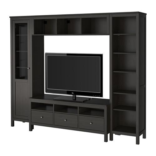 【IKEA/イケア/通販】 HEMNES テレビ収納コンビネーション, ブラックブラウン(a)(S59231094)
