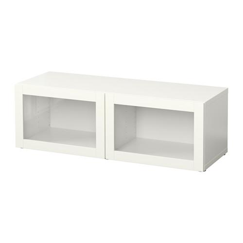 【IKEA/イケア/通販】 BESTÅ シェルフユニット ガラス扉付, シンドヴィーク ホワイト(b)(S59047661)