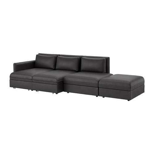 【IKEA/イケア/通販】 VALLENTUNA 4人掛けソファ ベッド付き, ムールム ブラック(a)(S59149438)
