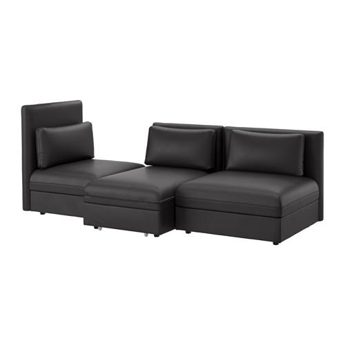 【IKEA/イケア/通販】 VALLENTUNA 3人掛けソファ ベッド付き, ムールム ブラック(a)(S59149462)