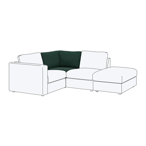 【IKEA/イケア/通販】 VIMLE コーナーセクション, グンナレド ダークグリーン(a)(S59219940)