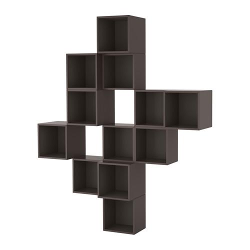 【IKEA/イケア/通販】 EKET 壁取り付け式キャビネットコンビネーション, ダークグレー(a)(S59189151)