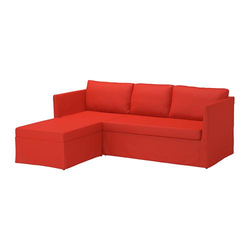 【IKEA/イケア/通販】 BRÅTHULT コーナーソファベッド, ヴィースレ レッド/オレンジ(S69217846)
