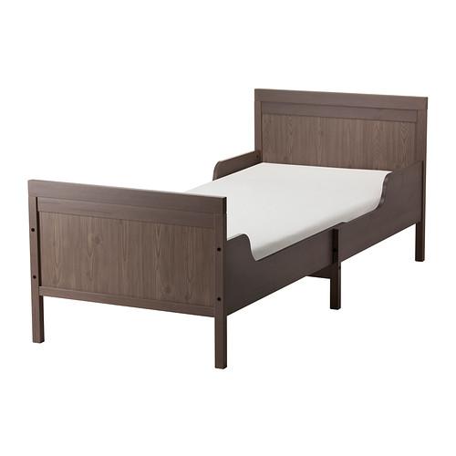 【IKEA/イケア/通販】 SUNDVIK 伸長式ベッドフレームとすのこ(組み合わせ), グレーブラウン(a)(S69240333)