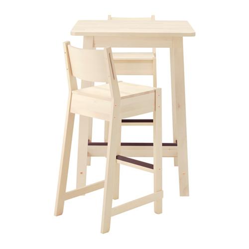 【IKEA/イケア/通販】 NORRÅKER / NORRÅKER バーテーブル&バースツール2脚, ホワイト バーチ, ホワイト バーチ(a)(S69251227)