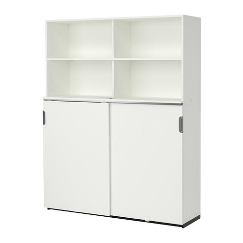 【IKEA/イケア/通販】 GALANT 収納コンビネーション 引き戸付, ホワイト(a)(S69222664)