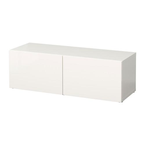 【IKEA/イケア/通販】 BESTÅ シェルフユニット 扉付, ホワイト, セルスヴィーケン ハイグロス/ホワイト(b)(S69047444)
