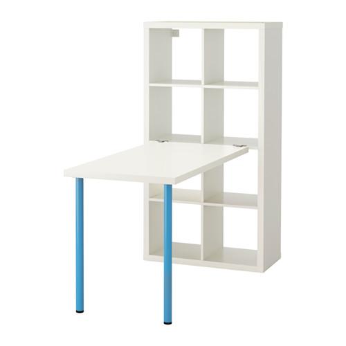 【IKEA/イケア/通販】 KALLAX デスクコンビネーション, ホワイト, ブルー(b)(S69246448) キャビネット・コンソール