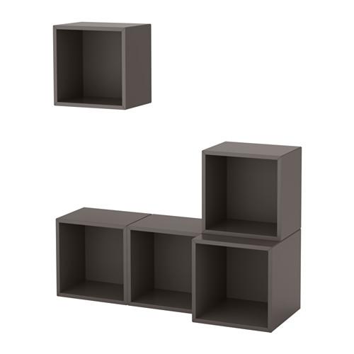 【IKEA/イケア/通販】 EKET 壁取り付け式キャビネットコンビネーション, ダークグレー(a)(S69189099)