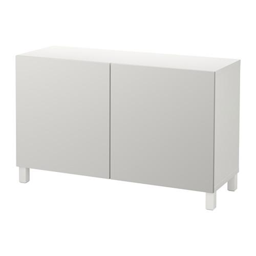 【IKEA/イケア/通販】 BESTÅ 収納コンビネーション 扉付, ホワイト, ラップヴィーケン ライトグレー(a)(S79208016)