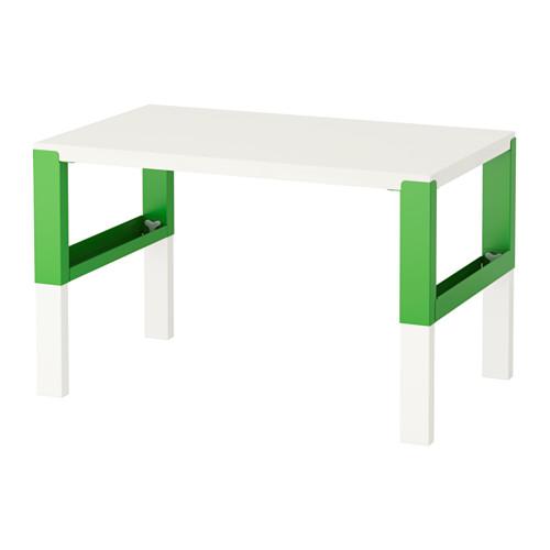 【IKEA/イケア/通販】 PÅHL デスク, ホワイト, グリーン(d)(S79245108) キャビネット・コンソール