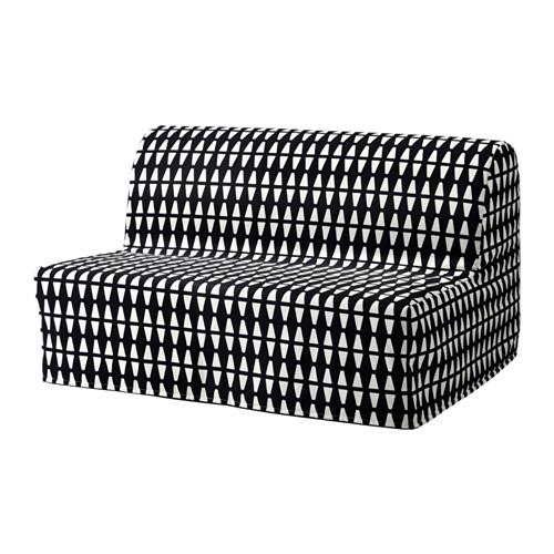 【IKEA/イケア/通販】 LYCKSELE LÖVÅS 2人掛けソファベッド, エッバルプ ブラック/ホワイト(a)(S89205055)