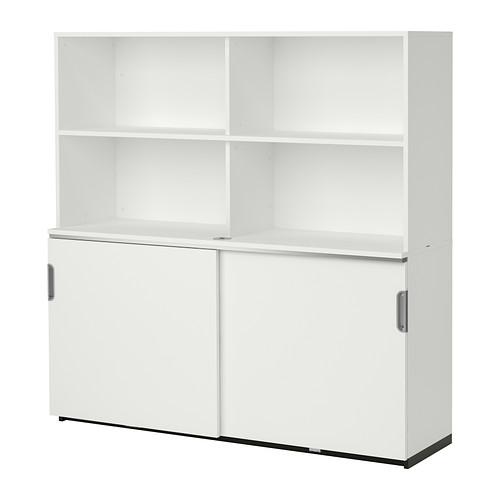 【IKEA/イケア/通販】 GALANT 収納コンビネーション 引き戸付, ホワイト(a)(S89222663)
