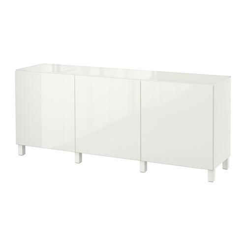 【IKEA/イケア/通販】 BESTÅ 収納コンビネーション 扉付, ホワイト, セルスヴィーケン ハイグロス/ホワイト(a)(S89219397)
