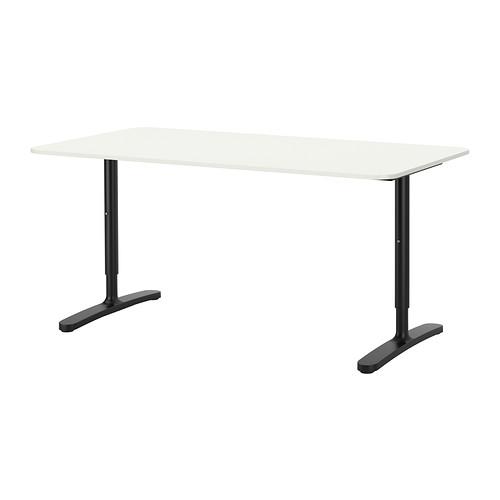 【IKEA/イケア/通販】 BEKANT デスク, ホワイト, ブラック(a)(S89222564)