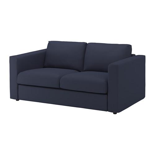 【IKEA/イケア/通販】 VIMLE 2人掛けソファ, オッルスタ ブラックブルー(b)(S89205300)