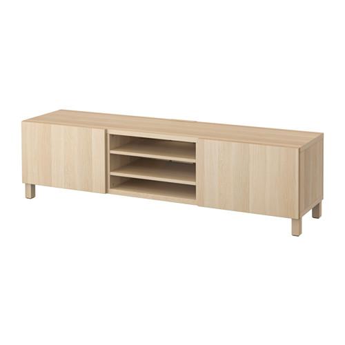 【IKEA/イケア/通販】 BESTÅ テレビ台 引き出し付き, ラップヴィーケン ホワイトステインオーク調(a)(S89185043)