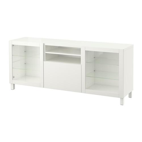 【IKEA/イケア/通販】 BESTÅ テレビ台 引き出し付き, ラップヴィーケン, シンドヴィーク ホワイトクリアガラス(a)(S89186448)