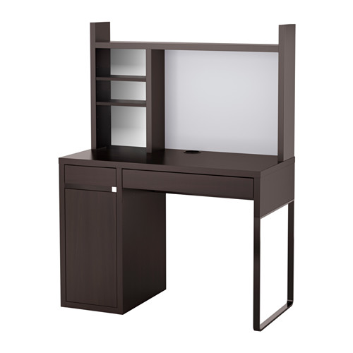 【IKEA/イケア/通販】 MICKE ワークステーション, ブラックブラウン(b)(S99245027)