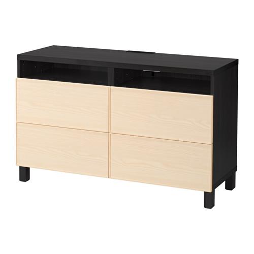 【IKEA/イケア/通販】 BESTÅ テレビ台 引き出し付き, ブラックブラウン, イーンヴィーケン アッシュ材突き板(a)(S99202730)