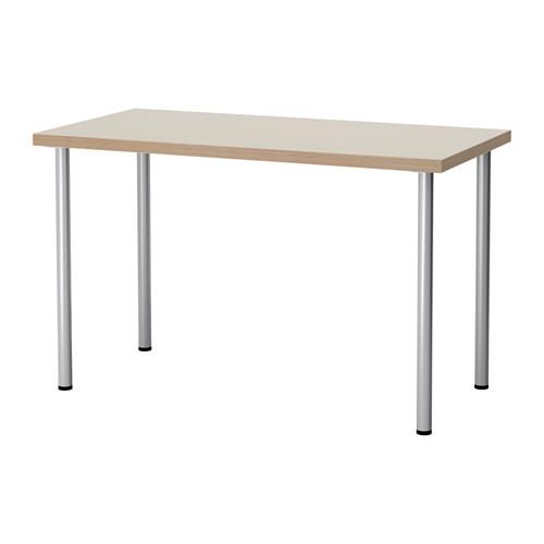 【特選商品】【IKEA/イケア/通販】 LINNMON / ADILS テーブル, ベージュ, シルバーカラー(a)(S99214182)