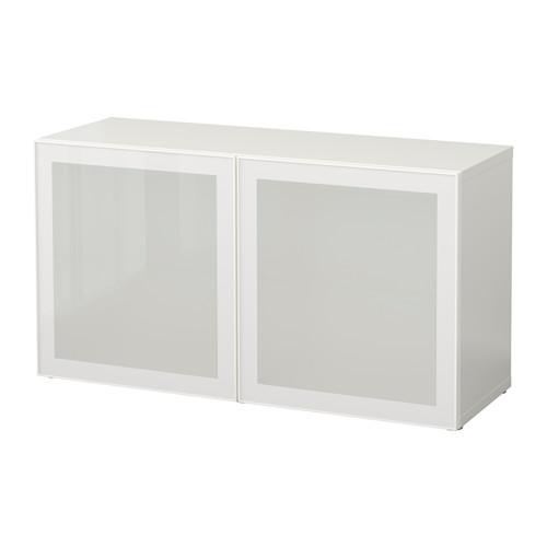 【IKEA/イケア/通販】 BESTÅ シェルフユニット ガラス扉付, ホワイト, グラスヴィーク ホワイト/フロストガラス(b)(S99047843)