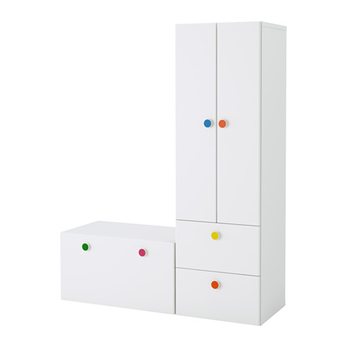 【IKEA/イケア/通販】 STUVA / FÖLJA 収納コンビネーション ベンチ付き, ホワイト(a)(S99222101)