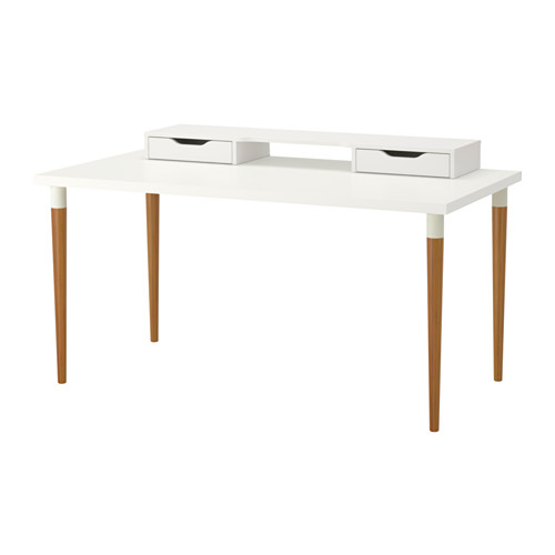 【特選商品】【IKEA/イケア/通販】 LINNMON / HILVER テーブル, ホワイト, 竹(a)(S99246456)