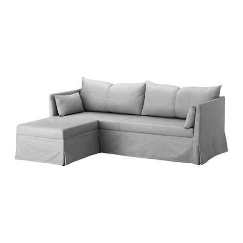 【IKEA/イケア/通販】 SANDBACKEN コーナーソファベッド, フリレスタド ライトグレー(a)(S99217897)