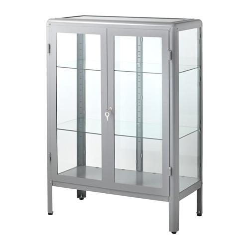 【期間限定】【IKEA/イケア/通販】 FABRIKÖR ガラス扉キャビネット, グレー(d)(40363174)