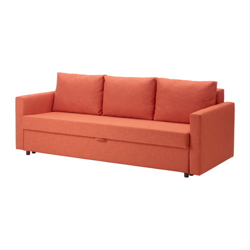 【IKEA/イケア/通販】 FRIHETEN 3人掛けソファベッド, スキフテボー ダークオレンジ(a)(50341153)