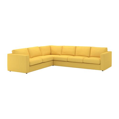 【IKEA/イケア/通販】 VIMLE コーナーソファ、5人掛け, オッルスタ ゴールデンイエロー(a)(S29211484)