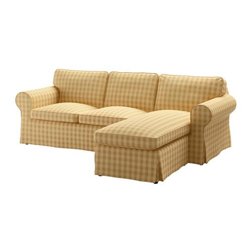 【IKEA/イケア/通販】 EKTORP 2人掛けソファ&寝椅子, スカフタルプ イエロー(b)(S19183504)
