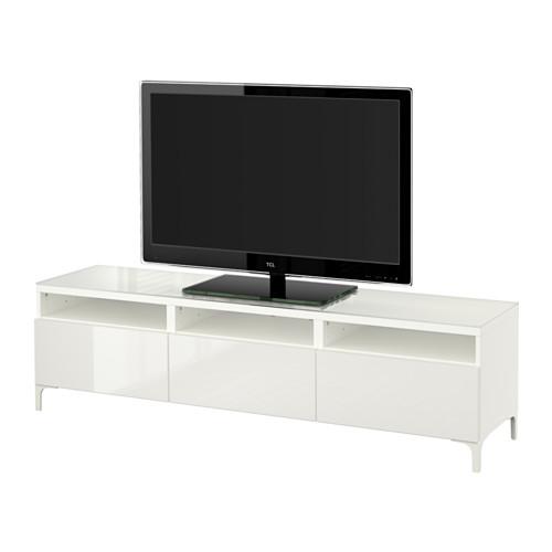 【IKEA/イケア/通販】 BESTÅ テレビ台 引き出し付き, ホワイト, セルスヴィーケン ハイグロス/ホワイト(a)(S09197337)
