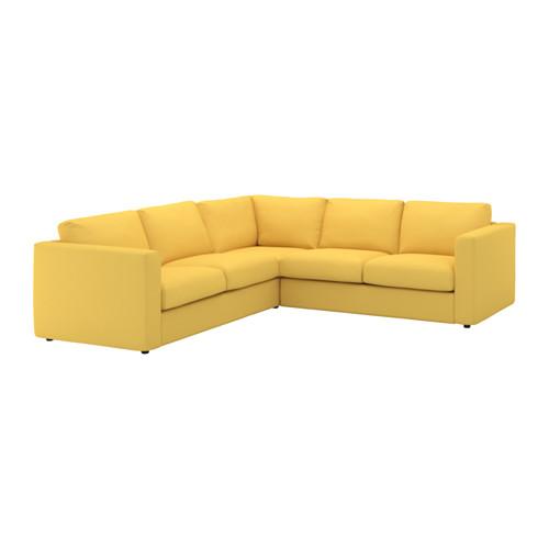 【IKEA/イケア/通販】 VIMLE コーナーソファ、4人掛け, オッルスタ ゴールデンイエロー(a)(S69211401)