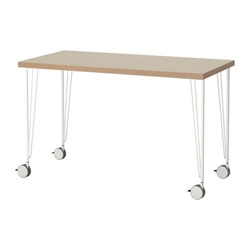 【特選商品】【IKEA/イケア/通販】 LINNMON / KRILLE テーブル, ベージュ, ホワイト(a)(S69214225)