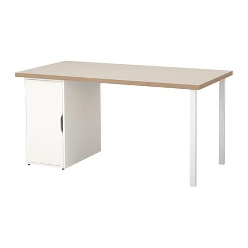 【特選商品】【IKEA/イケア/通販】 LINNMON / ALEX テーブル, ベージュ, ホワイト(a)(S69217511)