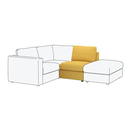 【IKEA/イケア/通販】 VIMLE 1人掛けソファセクション, オッルスタ ゴールデンイエロー(a)(S59220137)