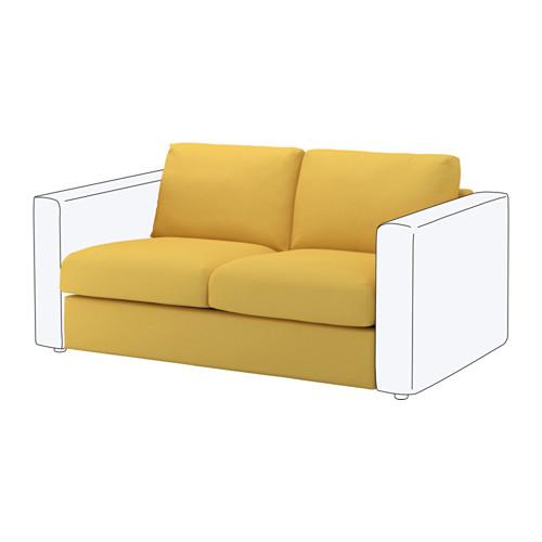 【IKEA/イケア/通販】 VIMLE 2人掛けソファセクション, オッルスタ ゴールデンイエロー(a)(S49219511)