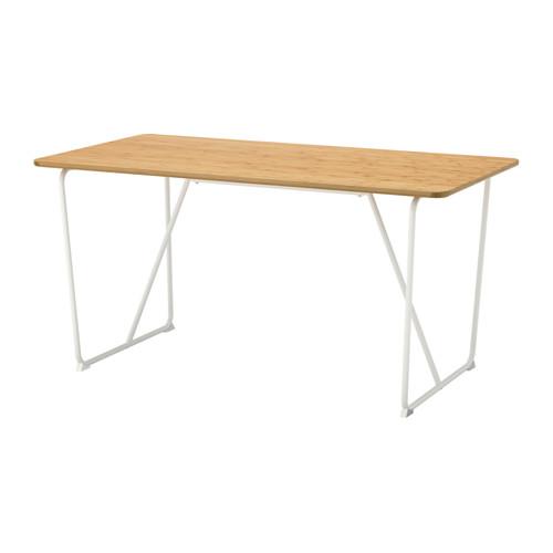 【IKEA/イケア/通販】 ÖVRARYD テーブル, 竹, バッカリード ホワイト(d)(S59140701)