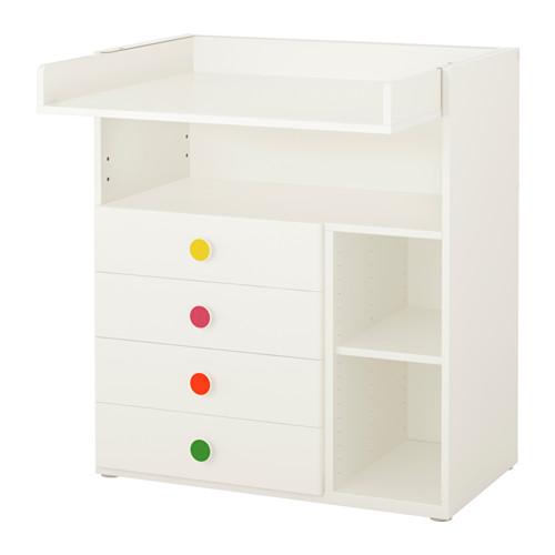 【IKEA/イケア/通販】 STUVA / FÖLJA チェンジングテーブル 引き出し4個付き, ホワイト(a)(S69229707)