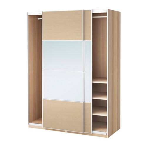 【IKEA/イケア/通販】 PAX ワードローブ, ホワイトステインオーク調, アウリ イールセング(a)(S39128347)