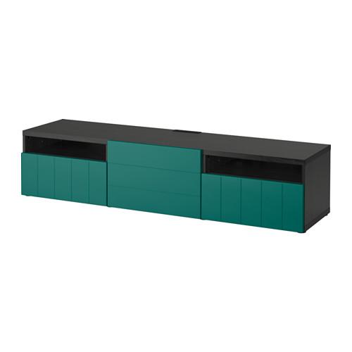 【IKEA/イケア/通販】 BESTÅ テレビ台, ラップヴィーケン ブラックブラウン(a)(S49184998)
