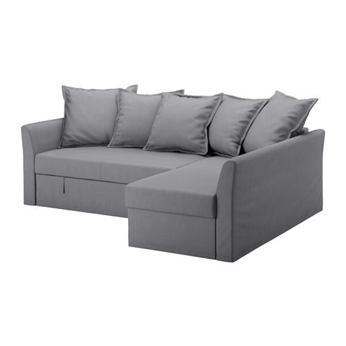 【IKEA/イケア/通販】 HOLMSUND コーナーソファベッド, ノールドヴァッラ ミディアムグレー(a)(S59150747)