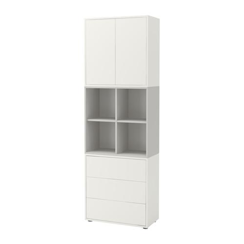 【IKEA/イケア/通販】 EKET キャビネットコンビネーション 足付き, ホワイト, ライトグレー(a)(S49191197)
